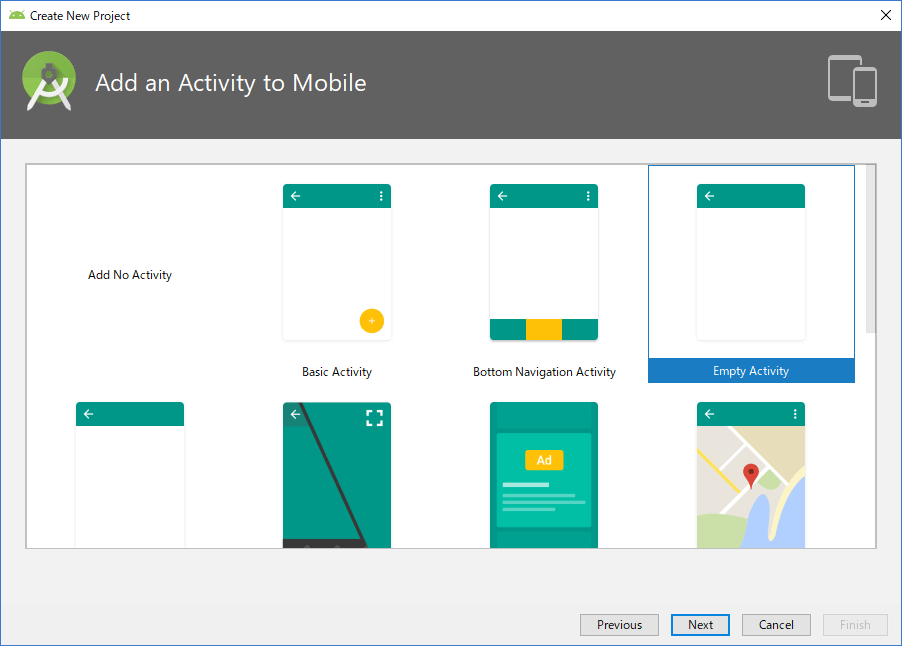 Android Studio Add an Activity to Mobile